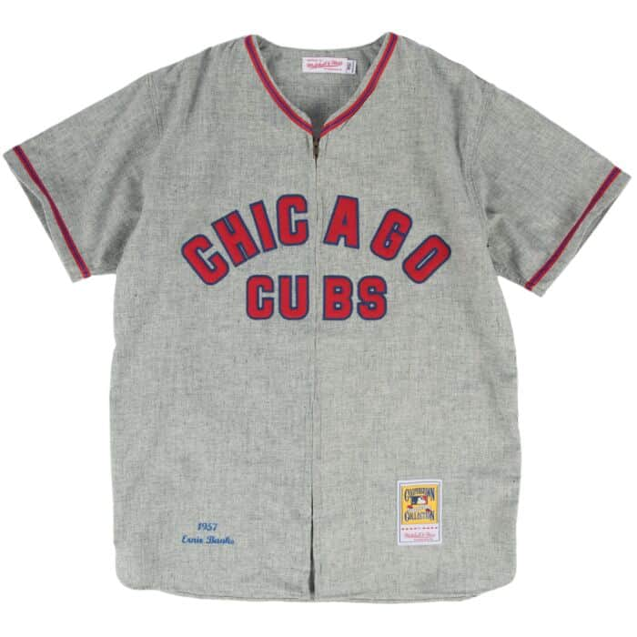 size 40 e5a36 17f6c Ernie Banks 1957 Authentic Jersey Chicago Cubs