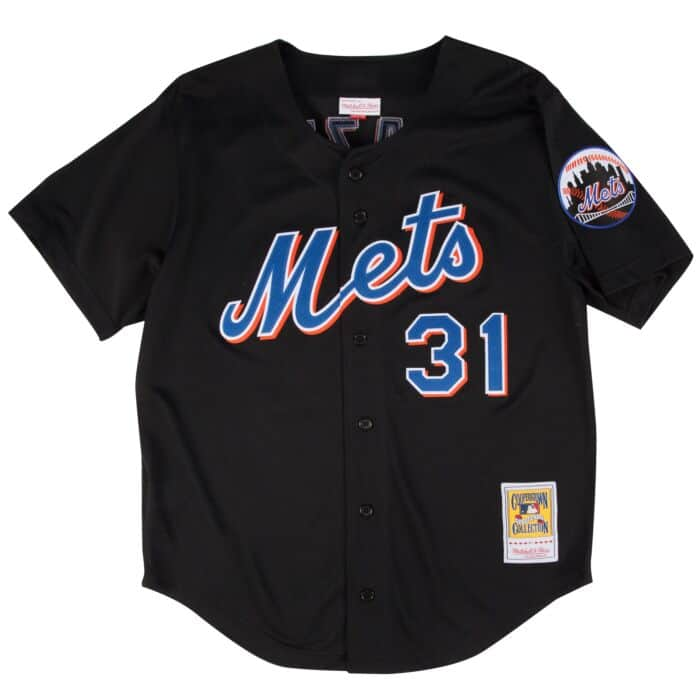 size 40 c7815 ba2ac Mike Piazza 2000 Authentic Mesh BP Jersey New York Mets