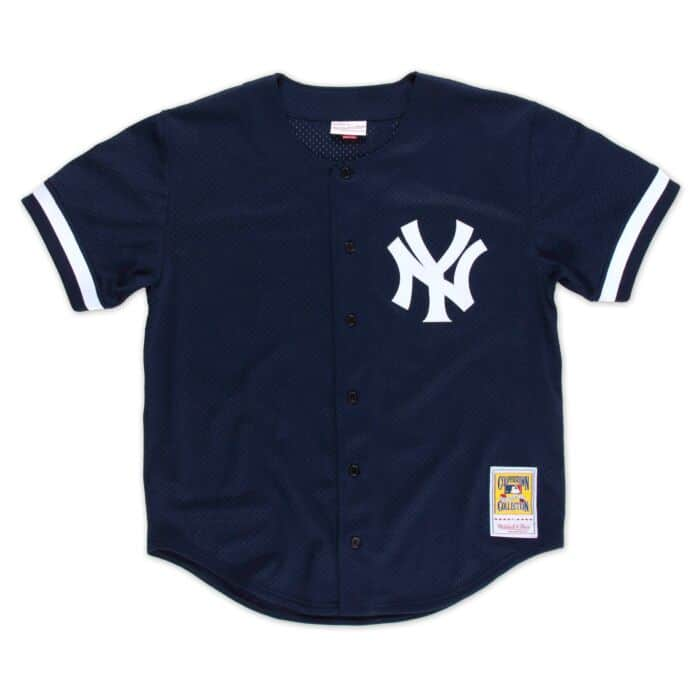 brand new b2a6f 980c6 Bernie Williams 1998 Authentic Mesh BP Jersey New York Yankees