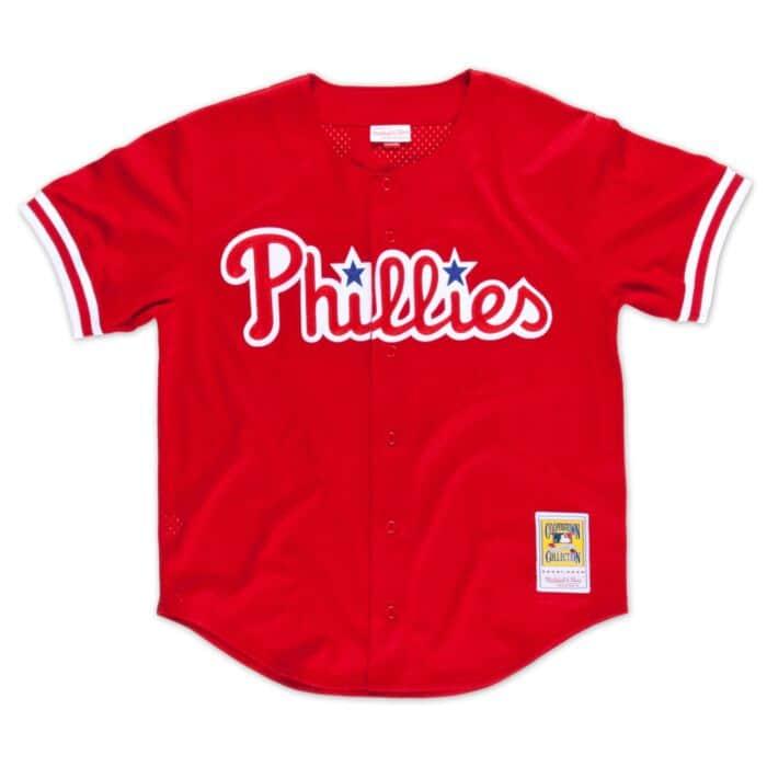 quality design 8376e b8151 Darren Daulton 1993 Authentic Mesh BP Jersey Philadelphia ...