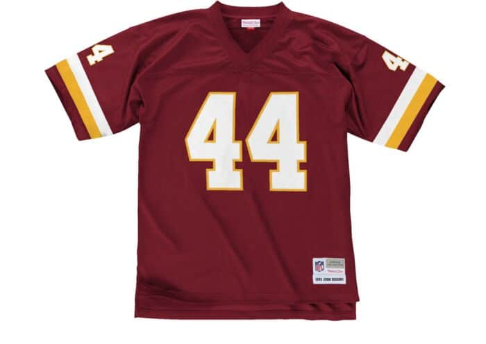 info for cdea8 58531 John Riggins 1983 Legacy Jersey Washington Redskins Mitchell ...