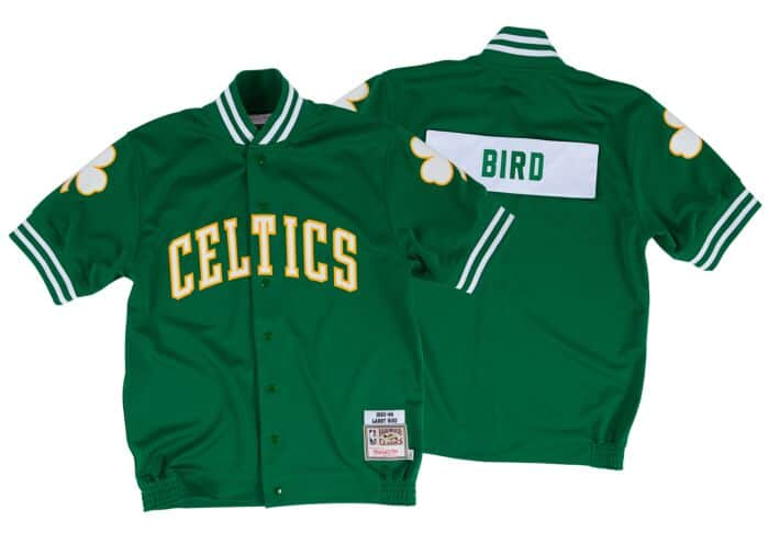 huge selection of d86a0 f70b6 Larry Bird 1983-84 Authentic Shooting Shirt Boston Celtics ...