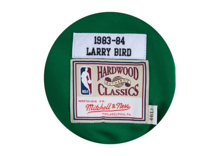 huge selection of 1ce04 45b35 Larry Bird 1983-84 Authentic Shooting Shirt Boston Celtics ...