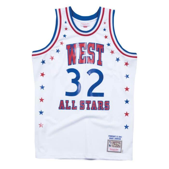 uk availability 143e8 a7e08 Magic Johnson 1983 All Star West Authentic Jersey