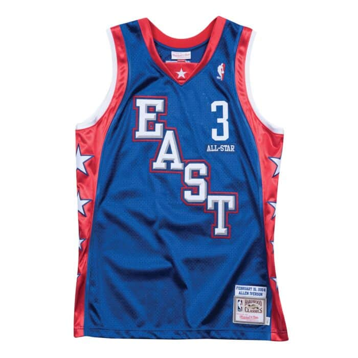 the best attitude 5f5c8 77147 Allen Iverson 2004 All Star East Authentic Jersey