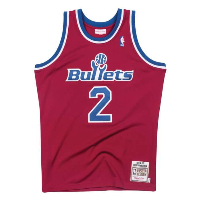 pretty nice 3eff9 d60dc Chris Webber 1994-95 Washington Bullets Road Authentic Jersey