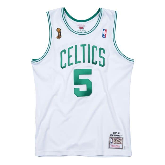 newest 53d6f 463fc Kevin Garnett 2007-08 Boston Celtics Authentic Finals Jersey