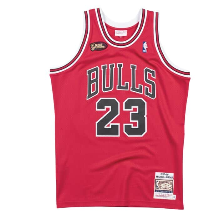 brand new 60433 b172c Authentic Jersey Chicago Bulls Road Finals 1997-98 Michael Jordan