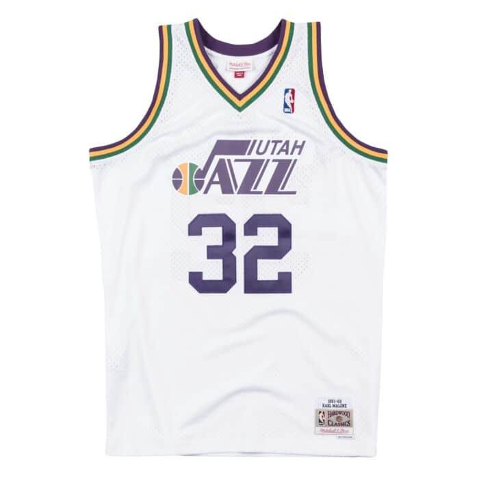 pretty nice f8613 7ea10 Swingman Jersey Utah Jazz Home 1991-92 Karl Malone Mitchell ...