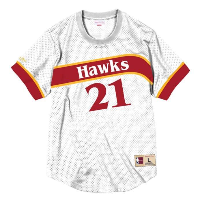 check out 6c7cc de311 Dominique Wilkins Name & Number Mesh Crewneck Atlanta Hawks ...