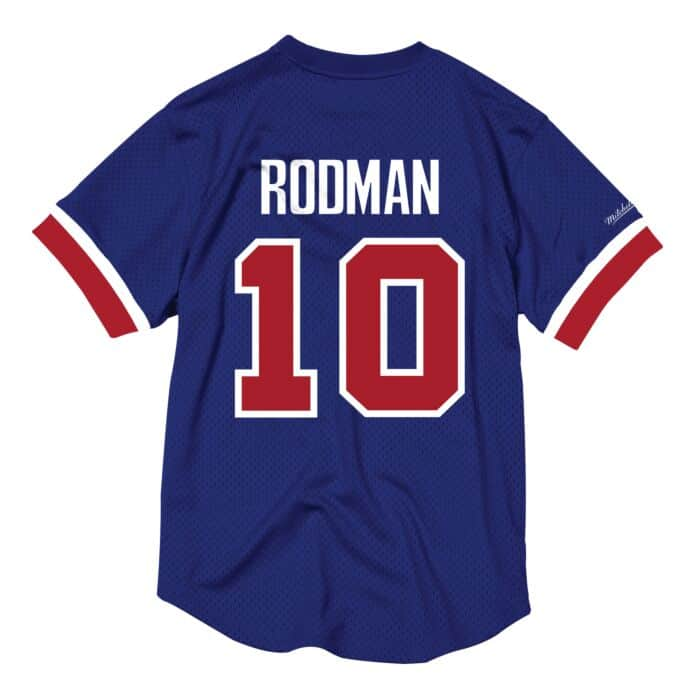 pretty nice ae510 0361f Dennis Rodman Name & Number Mesh Crewneck Detroit Pistons