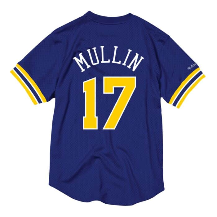 newest collection 598d4 8edbc Chris Mullin Name & Number Mesh Crewneck Golden State Warriors