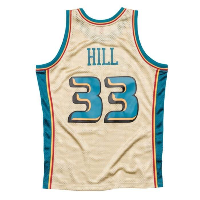 pretty nice c02b4 26461 Grant Hill Gold Swingman Jersey Detroit Pistons Mitchell ...
