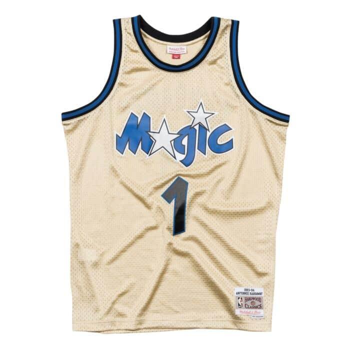 best cheap c014c d8fb8 Penny Hardaway Gold Swingman Jersey Orlando Magic Mitchell ...