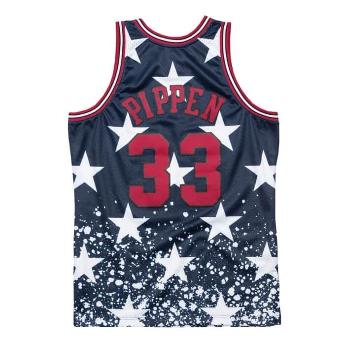 Mitchell /& Ness HWC Chicago Bulls Scottie Pippen Mens T-Shirt RW73