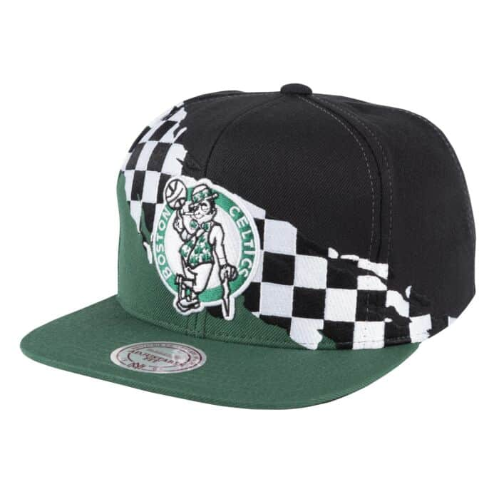 53398fa70 Checkered Paintbrush Snapback Boston Celtics Mitchell & Ness ...