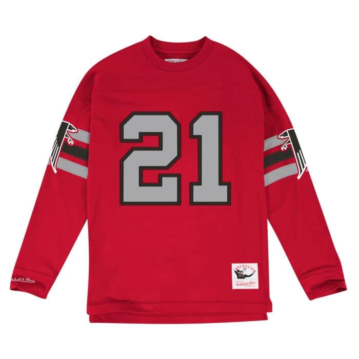 huge discount bfbf0 d8cf3 Name & Number LS Atlanta Falcons Deion Sanders Mitchell ...
