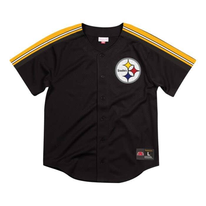 buy online 707da ec2f0 Winning Team Mesh Button Front Pittsburgh Steelers