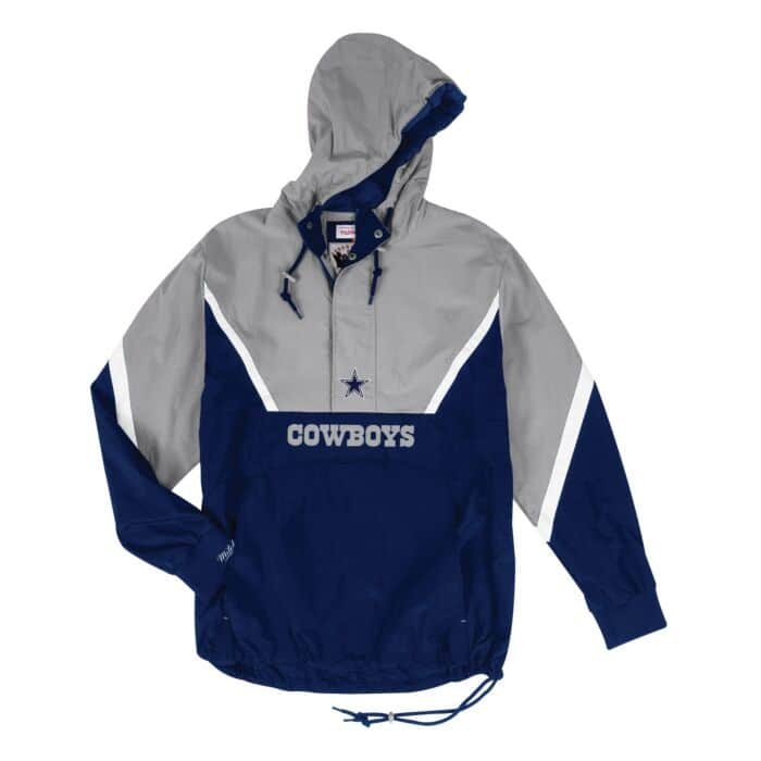 brand new e7079 5c677 Half Zip Anorak Dallas Cowboys Mitchell & Ness Nostalgia Co.