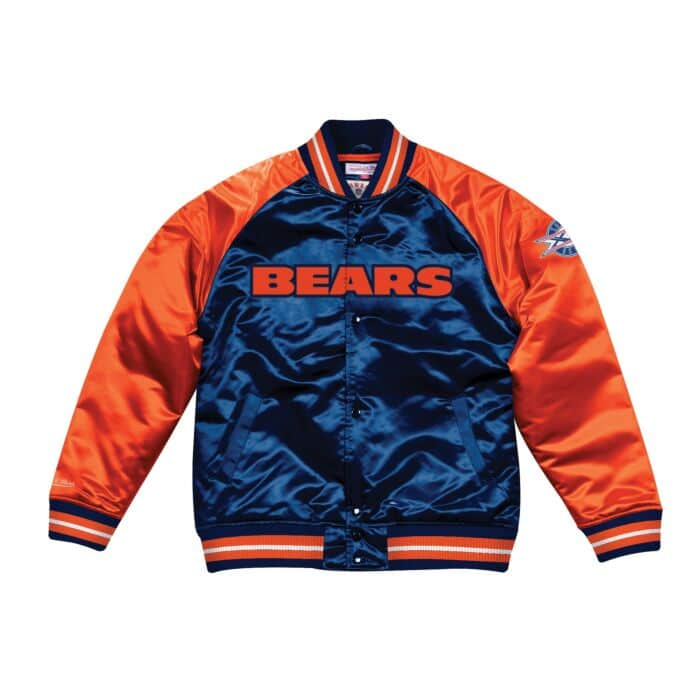 new styles 5ffe4 29129 Tough Season Satin Jacket Chicago Bears