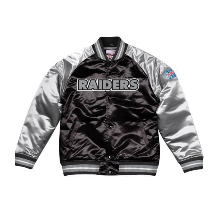 sale retailer eee76 9b2fe Tough Season Satin Jacket Oakland Raiders Mitchell & Ness ...