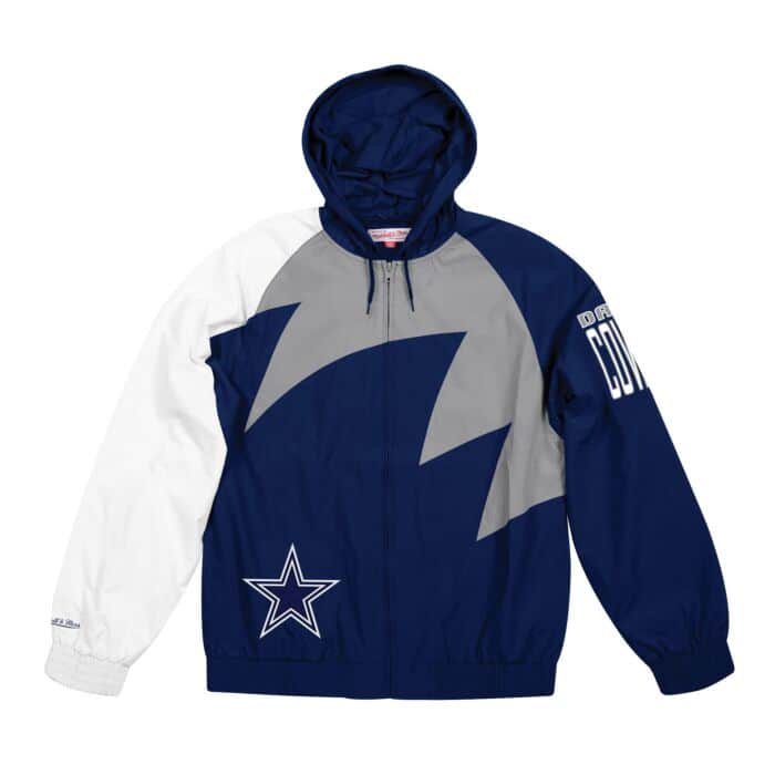 best sneakers e9e1a b4381 Shark Tooth Jacket Dallas Cowboys Mitchell & Ness Nostalgia Co.