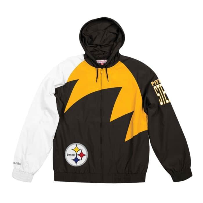meet 60de9 febfd Shark Tooth Jacket Pittsburgh Steelers Mitchell & Ness ...