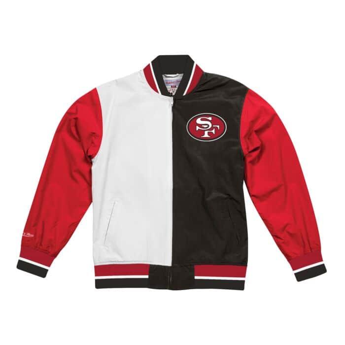premium selection d69a4 a5820 Team History Warm Up Jacket 2.0 San Francisco 49ers Mitchell ...