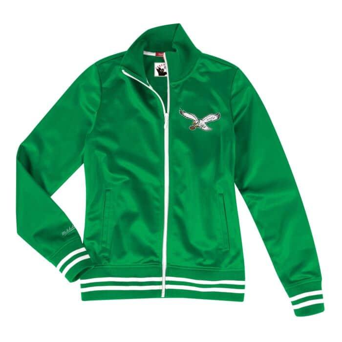 sale retailer 89c9b d3898 Womens Track Jacket Philadelphia Eagles Mitchell & Ness ...