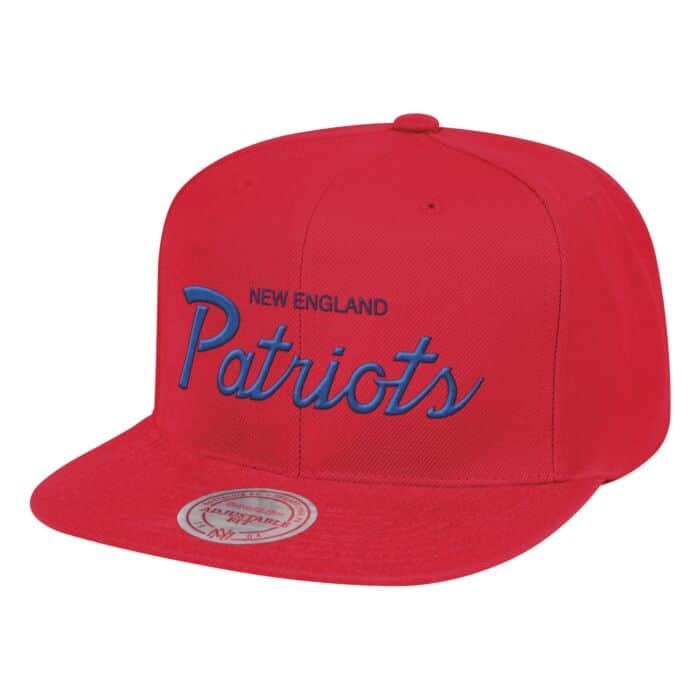 39f5c417 Solid Script Snapback New England Patriots Mitchell & Ness Nostalgia Co.