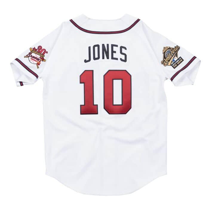 quality design 33516 b5fd2 Chipper Jones Authentic Jersey Atlanta Braves Mitchell ...