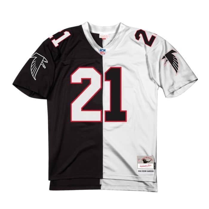 finest selection 86d3a c72dd Split Home & Away Legacy Jersey Atlanta Falcons 1992 Deion ...