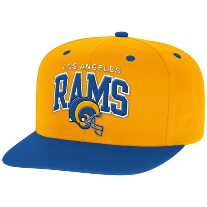 factory authentic 610c3 10fb4 Arch with Logo Snapback Los Angeles Rams Mitchell & Ness ...