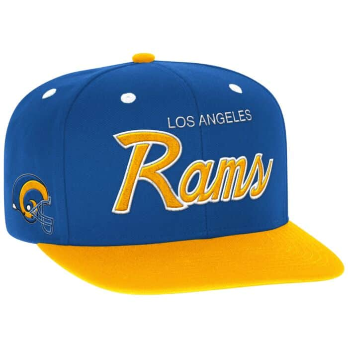 fe342b95 Script Snapback Los Angeles Rams Mitchell & Ness Nostalgia Co.