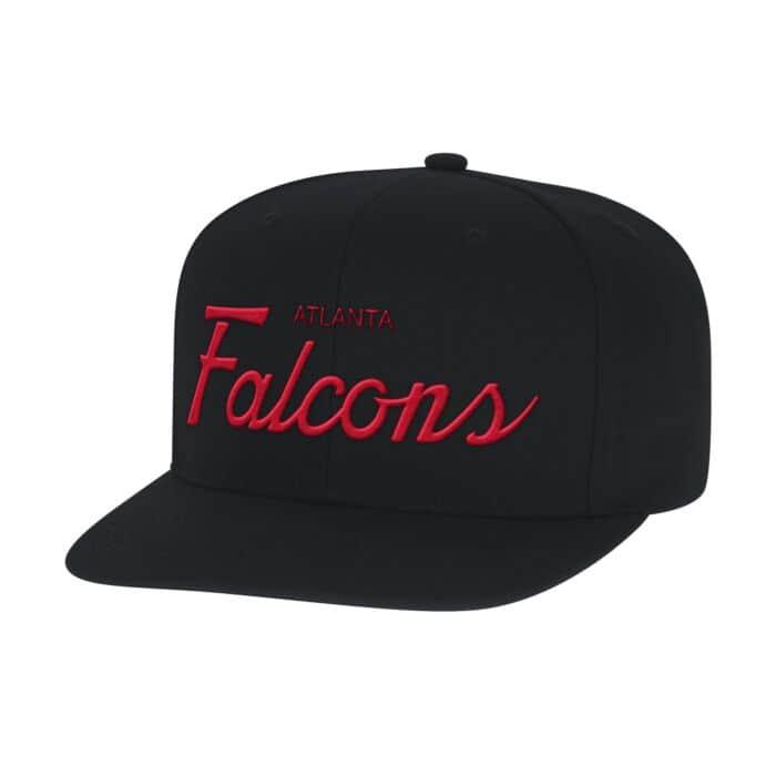 super popular ccd30 1a298 Solid Script Snapback Atlanta Falcons Mitchell & Ness ...