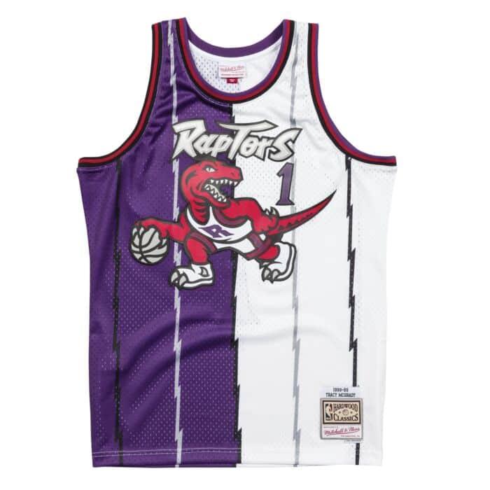 newest 7d8ad 2710d Split Home & Away Swingman Jersey Toronto Raptors 1998-99 ...
