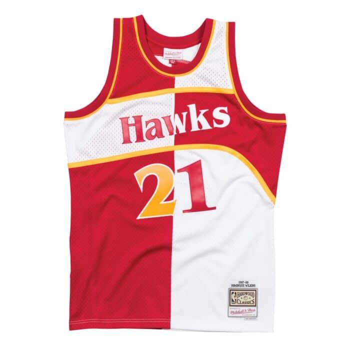 hot sale online a5548 e9d08 Split Home & Away Swingman Jersey Atlanta Hawks 1987-88 ...