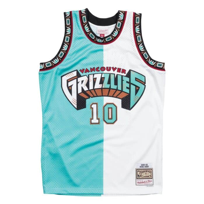 huge selection of 21da2 85af5 Split Home & Away Swingman Jersey Vancouver Grizzlies 1998 ...