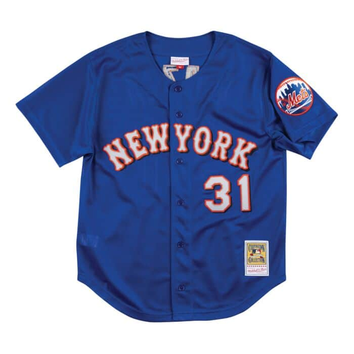 finest selection bf52c 255f8 Authentic Mesh BP Jersey New York Mets 1999 Mike Piazza