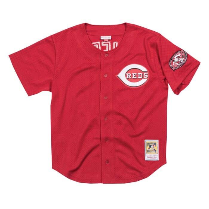 buy online 77e46 018c8 Authentic Mesh BP Jersey Cincinnati Reds 2000 Ken Griffey Jr.