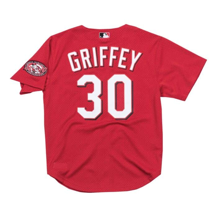 buy online 96dc2 1621c Authentic Mesh BP Jersey Cincinnati Reds 2000 Ken Griffey Jr.