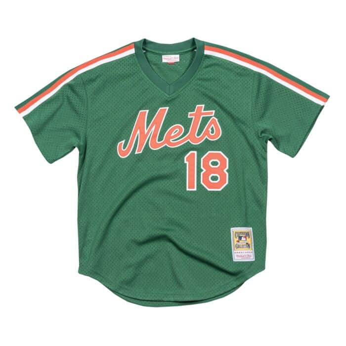 size 40 ab1d5 068db Authentic Mesh BP Jersey New York Mets 1988 Darryl ...