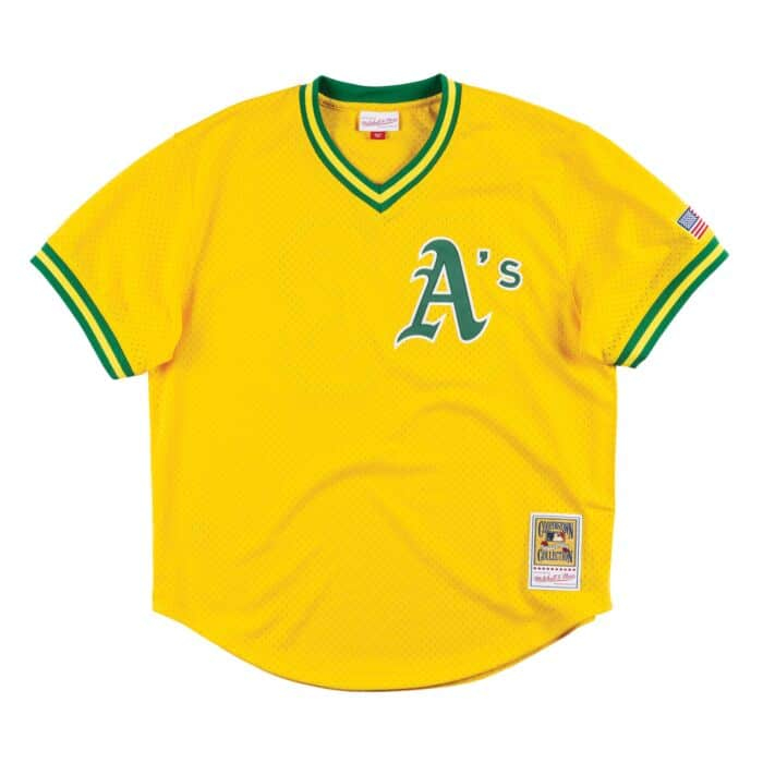 buy popular 2a9b7 6a548 Authentic Mesh BP Jersey Oakland Athletics 1990 Jose Canseco