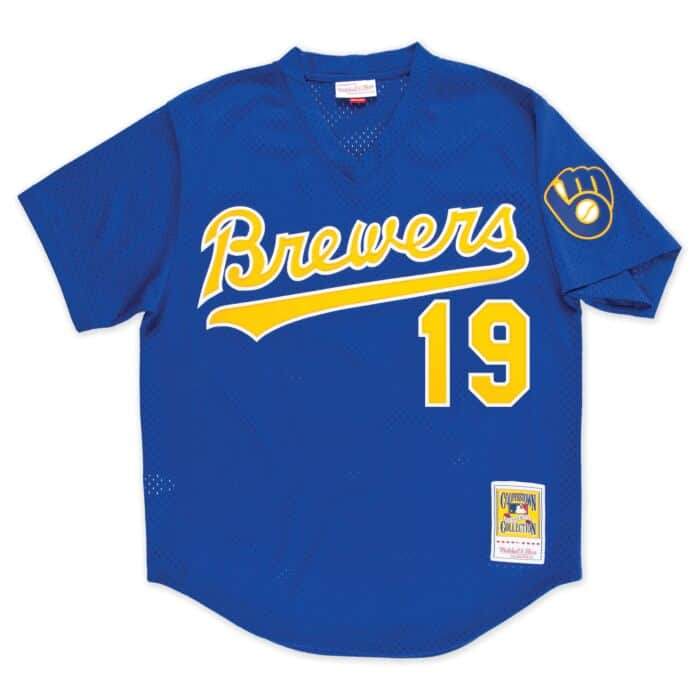new arrival 8b45e 23244 Authentic Mesh BP Jersey Milwaukee Brewers 1991 Robin Yount