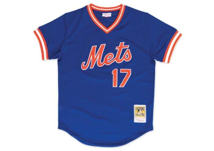 big sale 7dead 6b35f Authentic Mesh BP Jersey New York Mets 1986 Keith Hernandez