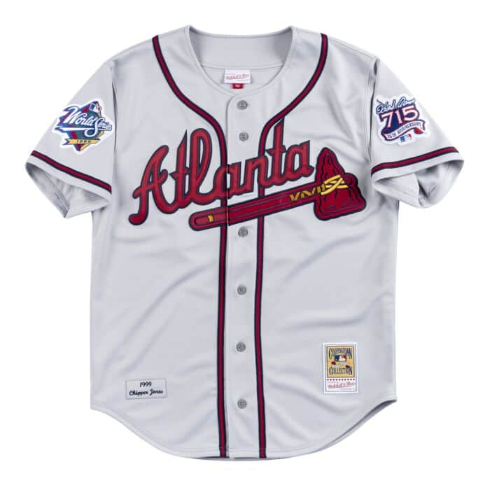 new arrival 39145 21db2 Authentic Jersey Atlanta Braves Road 1999 Chipper Jones