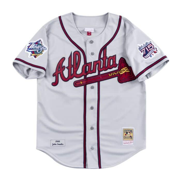 low priced c4bc2 33e82 Authentic Jersey Atlanta Braves Road 1999 John Smoltz