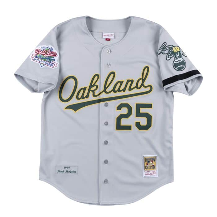 new arrivals 23421 452b7 Authentic Jersey Oakland Athletics Road World Series 1989 ...