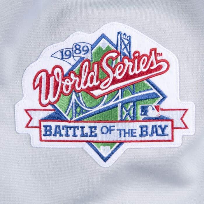 new arrivals 0b8d5 3feb2 Authentic Jersey Oakland Athletics Road World Series 1989 ...
