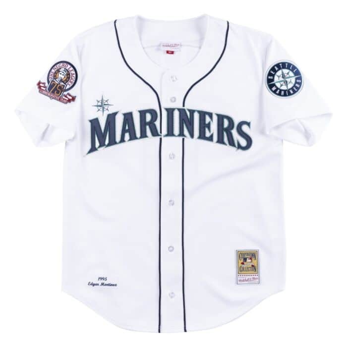 reputable site fd05e a079b Authentic Jersey Seattle Mariners Home 1995 Edgar Martinez